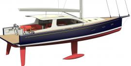 Surfari 53 side view transom down